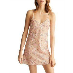 Ginia Small Silk Cotton Blend Chemise Nightgown